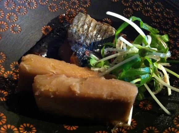 ニシンと海老芋の焚き合わせ