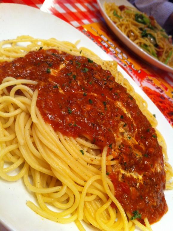 スパマッチョのランチパスタ(ミートソース)