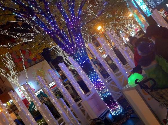 神宮前交番横「まちかど庭園」の「イルミタッチガーデン」
