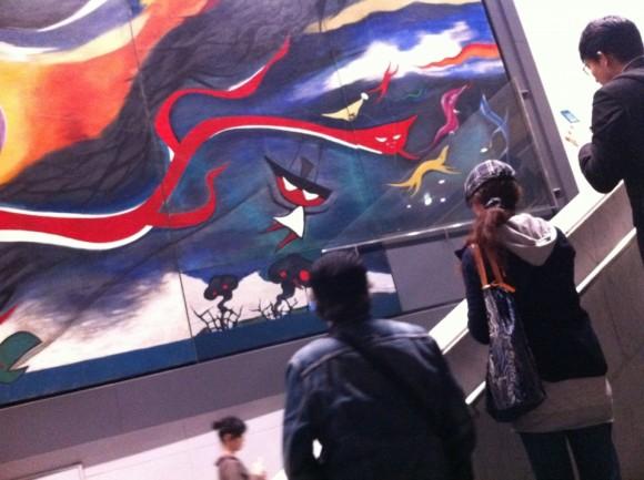 岡本太郎「明日の神話」に原発の風刺画