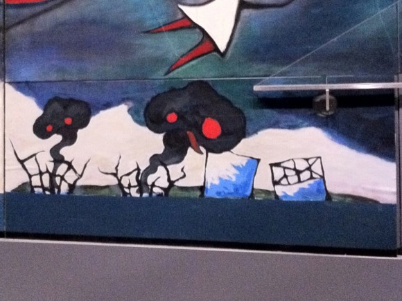 明日の神話:東電福島原発風刺画部分を拡大