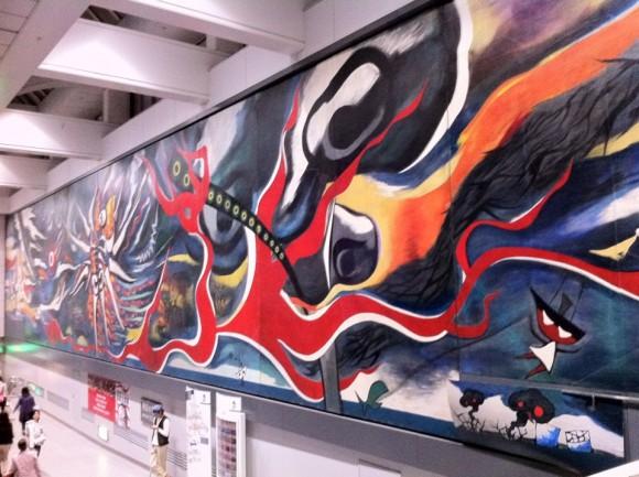 岡本太郎「明日の神話」全景
