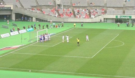 FC TOKYO vs 鹿島を観に行ったら両クラブともバックパスでゴール数mからのフリーキックを食らう珍事に遭遇した件