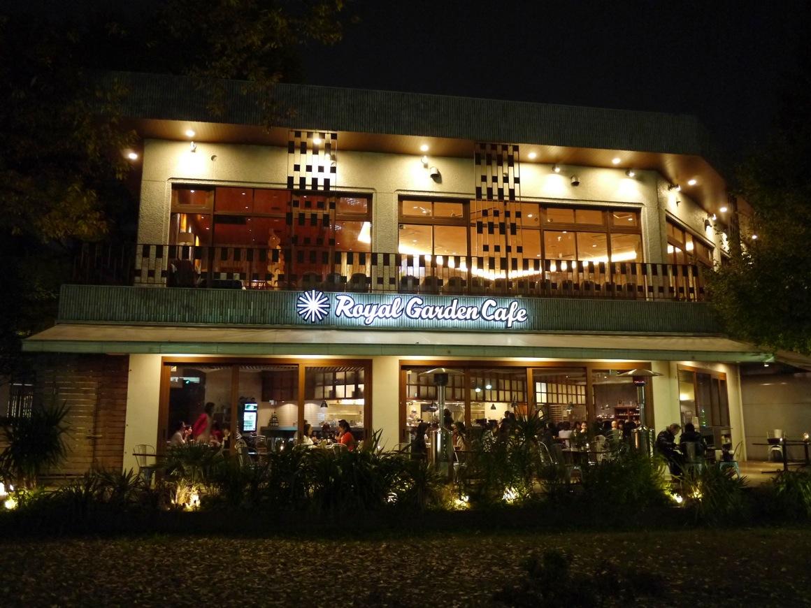 外苑ロイヤル・ガーデンカフェの夜景