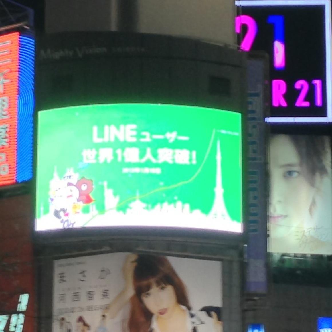 LINE一億ユーザーおめでとう!