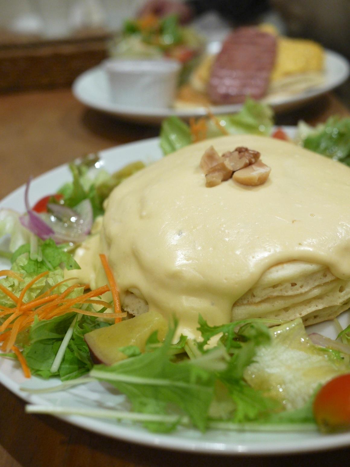 4種類のチーズフォンデュ・パンケーキ