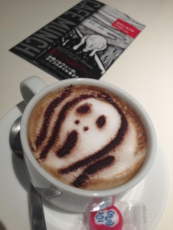 ムンクの「叫び ラテ」/ カフェムンク
