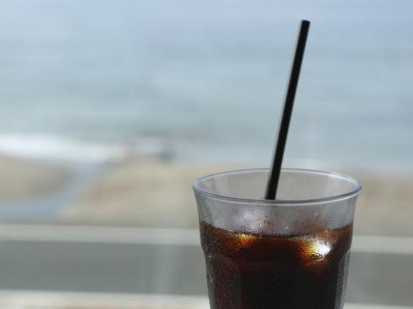 海辺でコーヒー!