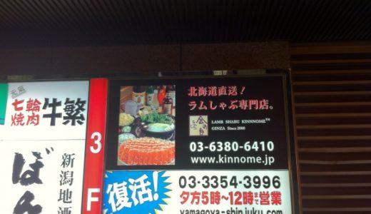 食べログベストレストラン2010に選ばれたラムしゃぶ「金の目」が新宿に進出