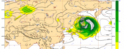 Mean sea level pressure, wind speed at 850 hPa and geopotential 500 hPa, temperature at 850 hPa