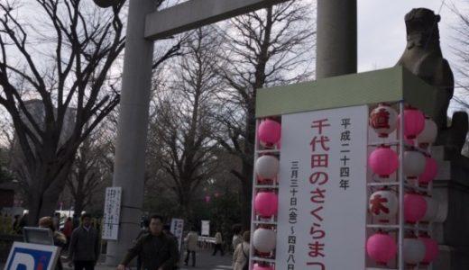 靖国神社で桜開花の標本木を見てきた