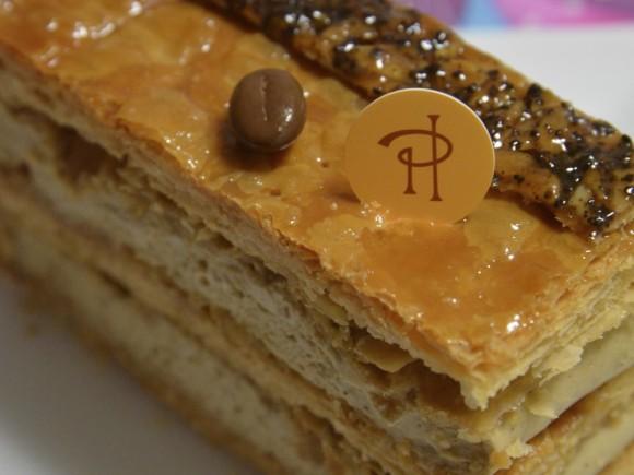 ピエールエルメのコーヒーのミルフィーユ
