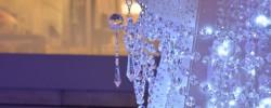 スワロフスキーが散りばめられたクリスマスツリー