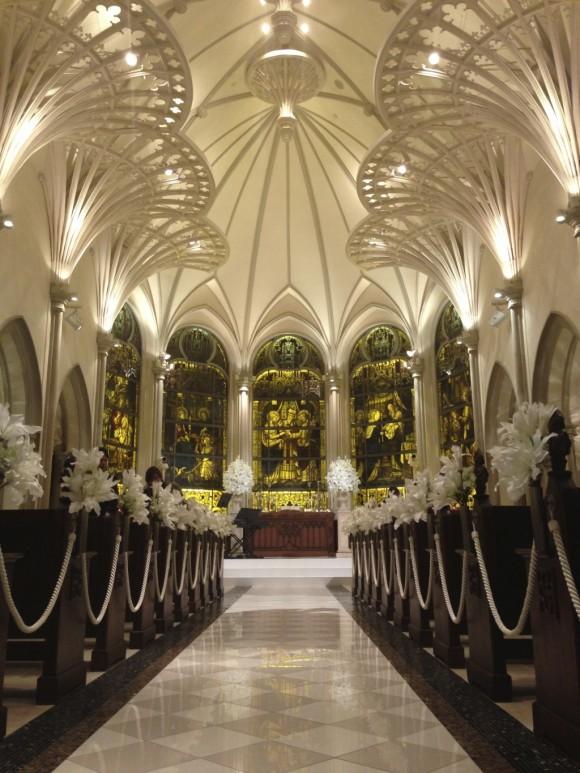 青山セントグレース大聖堂のバージンロード