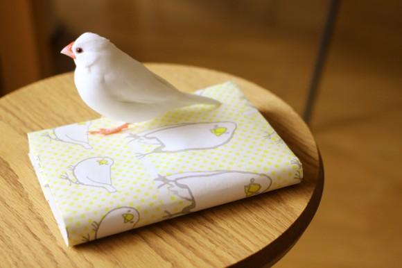 文鳥ちゃんブックカバー